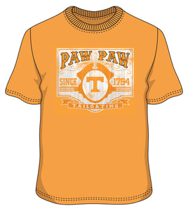 S/S TN Paw Paw Tailgating Orange Tee