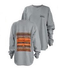 Women's Tennesse Tribal Print Big Shirt in Grey
