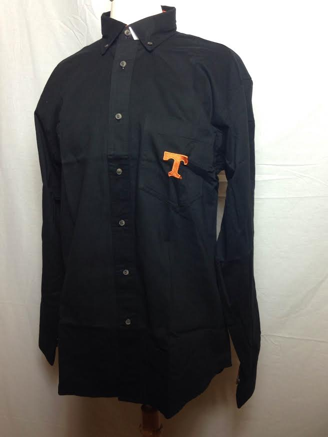 TN TALL Black Woven Button Down