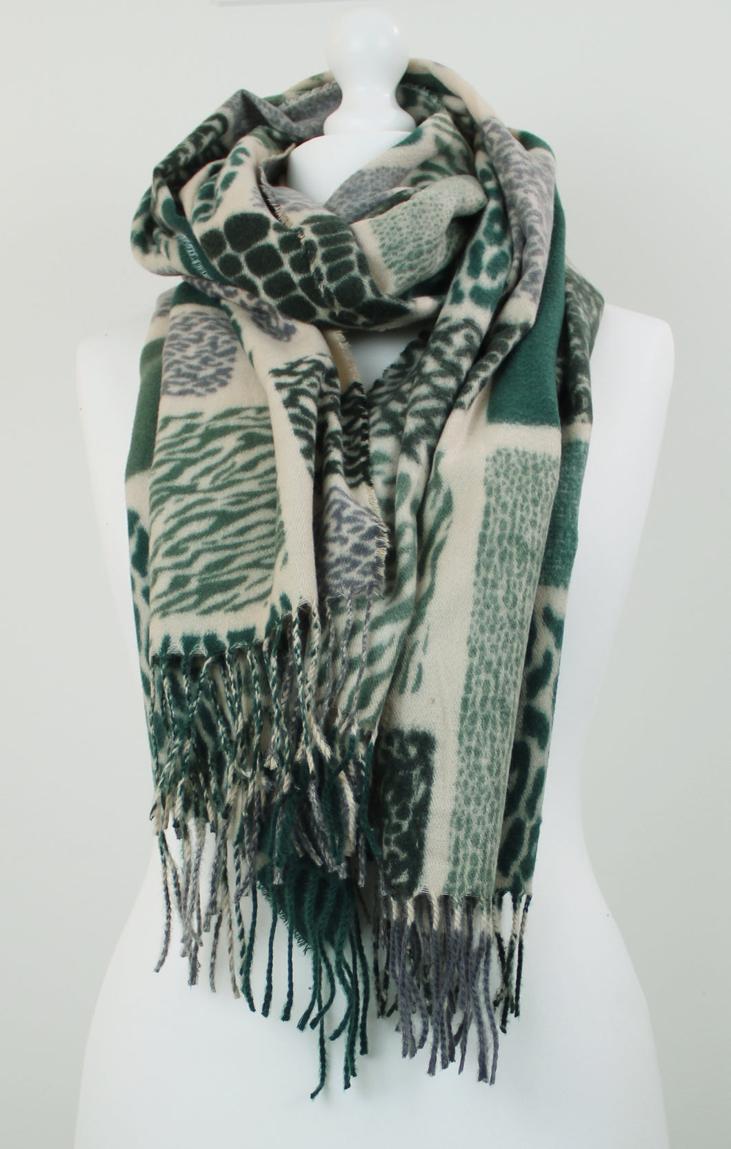 Soft animal squares scarf