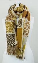Load image into Gallery viewer, Soft animal squares scarf