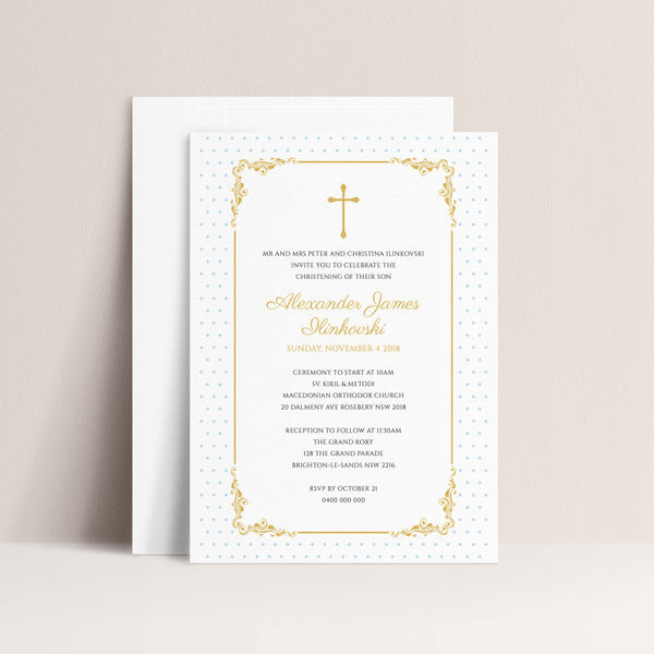 Alexander Christening Invitation