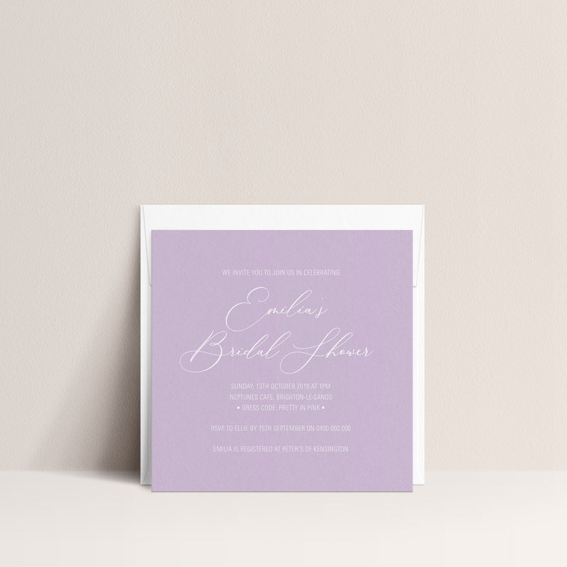 Emilia Bridal Shower Invitation