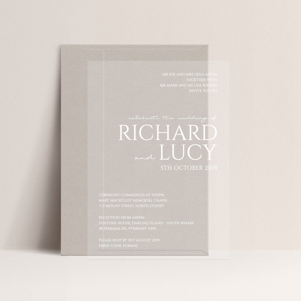 Lucy Acrylic Invitation