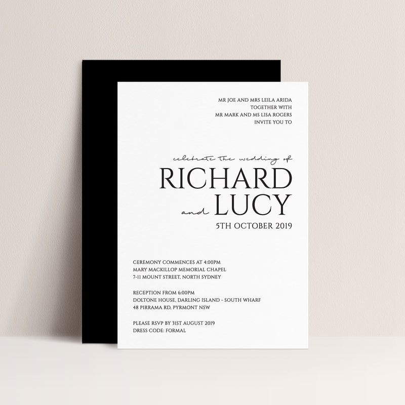 Lucy Letterpress Invitation
