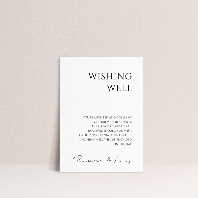 Lucy Wishing Well Card