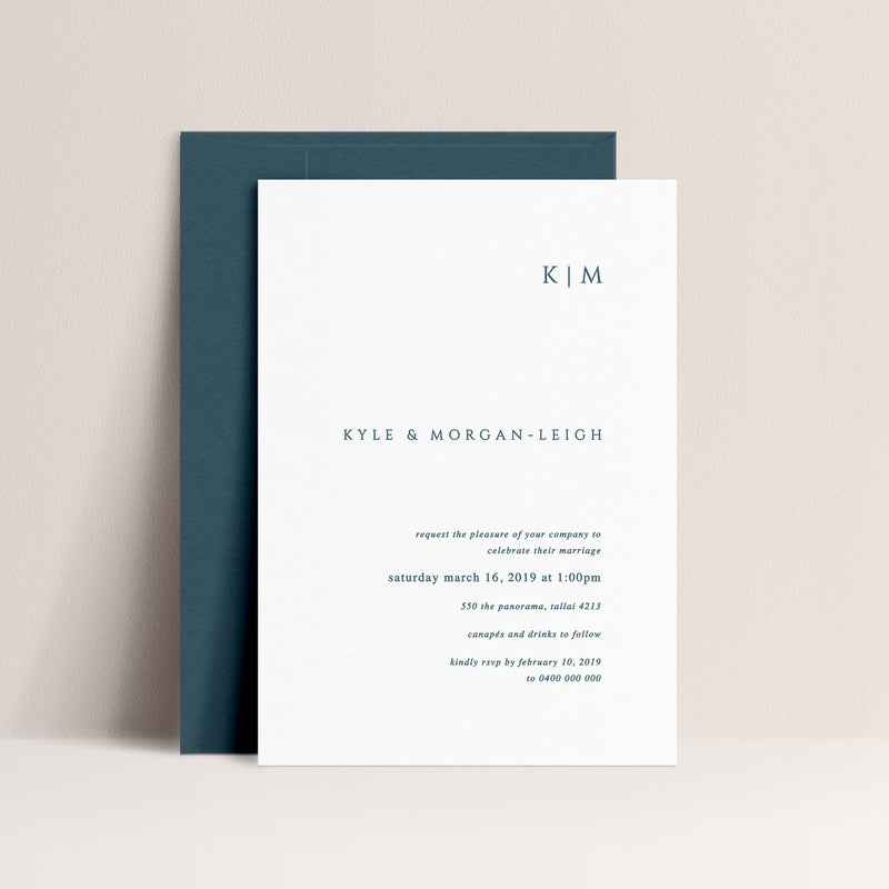 Morgan Letterpress Invitation