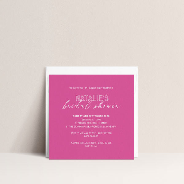 Natalie Bridal Shower Invitation