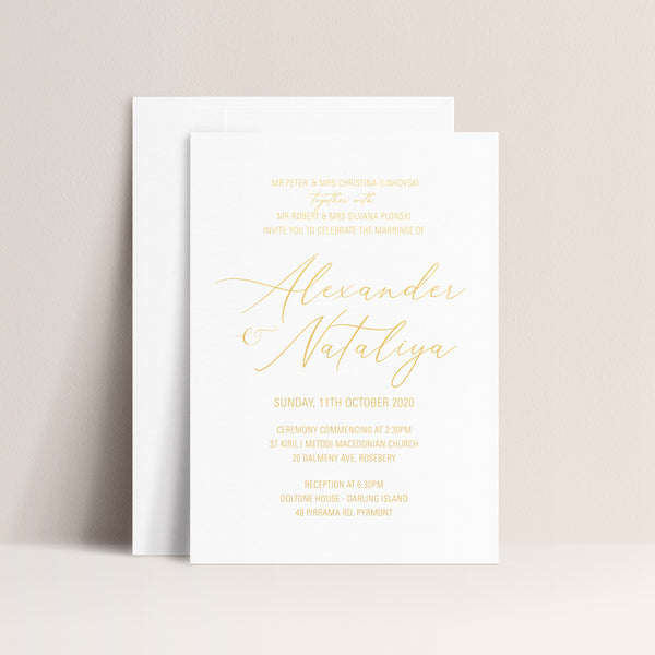 Nataliya Hot Foil Invitation