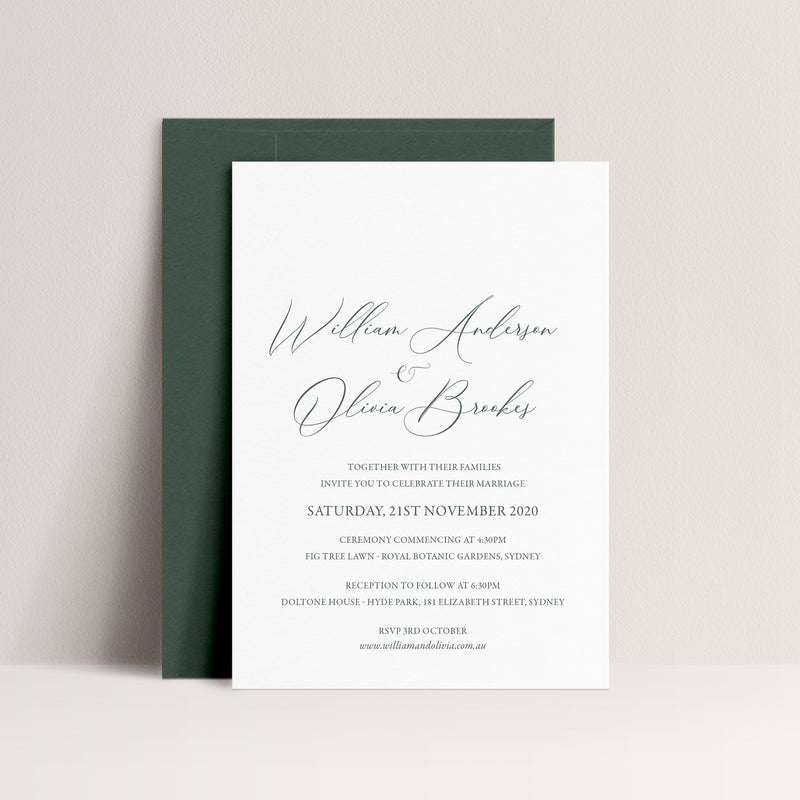 Olivia Letterpress Invitation