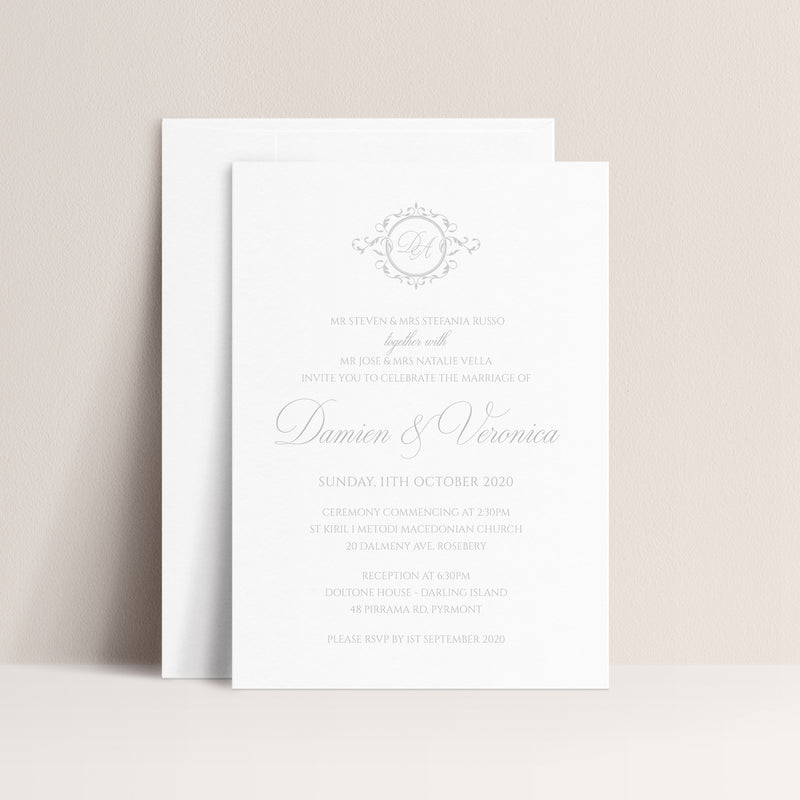 Veronica Hot Foil Invitation