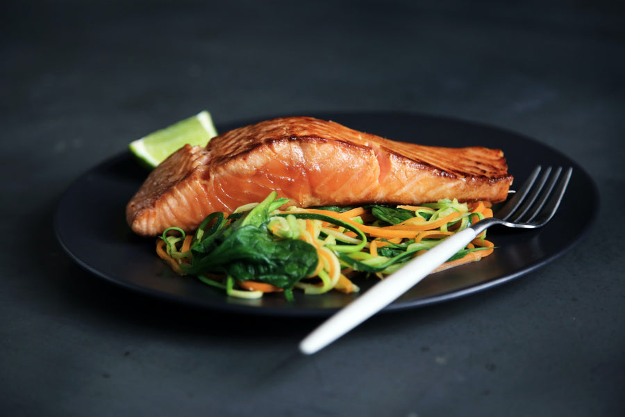 Charred Salmon with Pomegranate Molasses