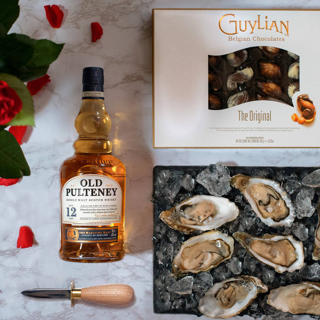 Indulgent Valentine's Hamper with Oysters, Whisky & Chocolate - Fish To Your Door