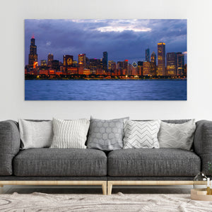 Chicago Blackhawks Chicago Skyline Canvas