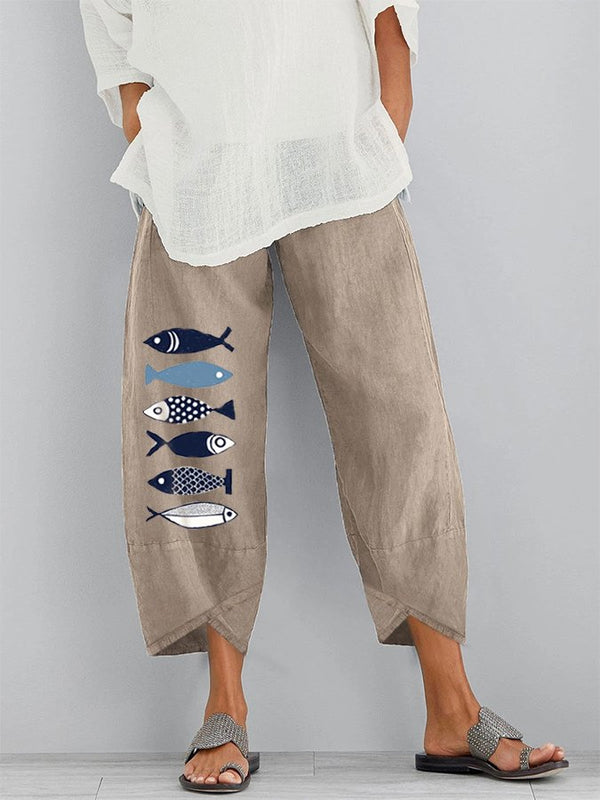 Women Shift Casual Linen Pants