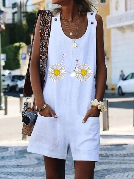 Summer Floral Casual Shift One-Pieces