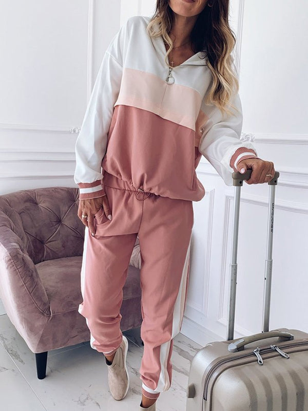 Hoodie Long Sleeve Shift Plain Suits