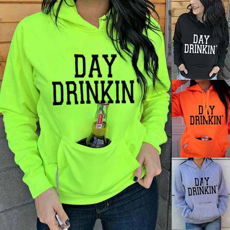 Letter Long Sleeve Cotton-Blend Casual Sweatshirt