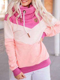 Casual Long Sleeve Patchwork Sweatshirt