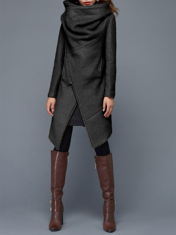 Casual Long Sleeve Asymmetrical Outerwear