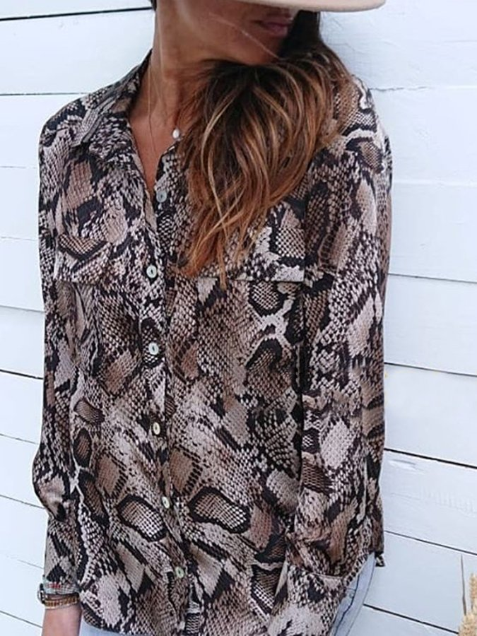 Boho Long Sleeve V Neck Shirts & Tops