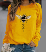 Plus Size Cotton-Blend Animal Long Sleeve Sweatshirt