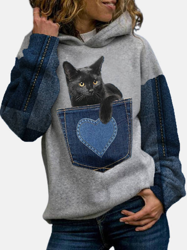 Casual Cotton-Blend Hoodie Sweatshirt