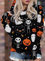 Halloween Print Casual Top