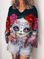 Halloween Printed Graphic Statement Shirts & Tops