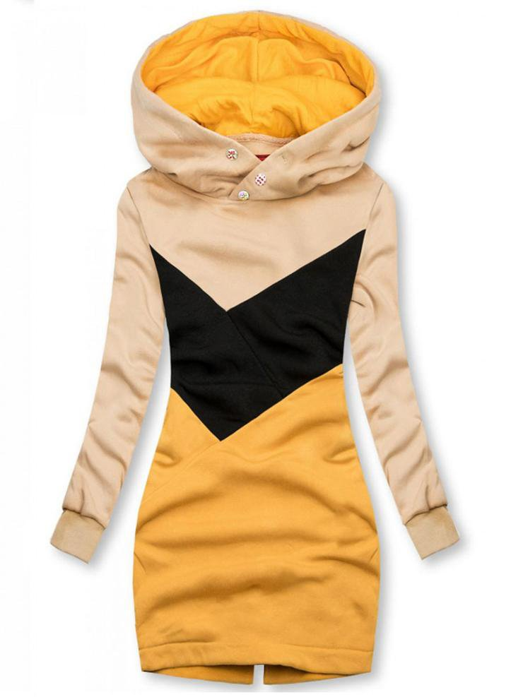 Fashion contrast color casual women's Outerwear