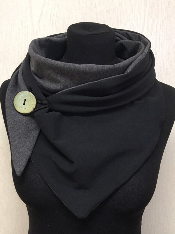 Black Casual Solid Scarves & Shawls