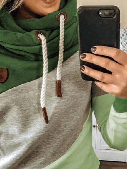 Green Long Sleeve Shift Sweatshirt