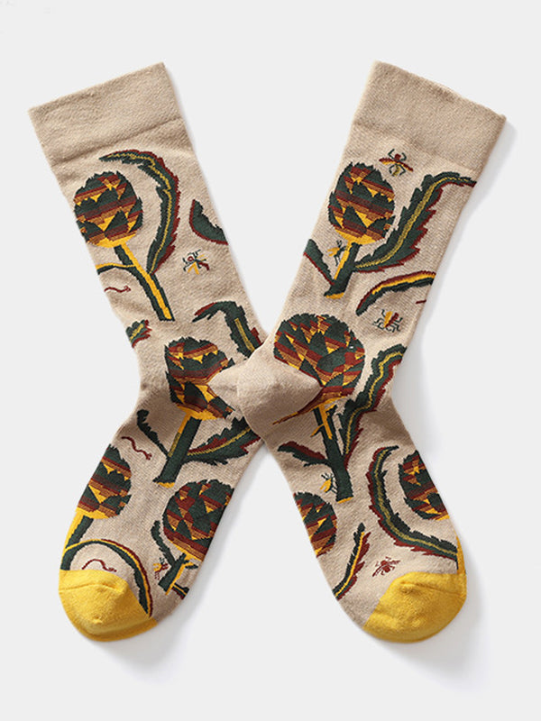 Jacquard cotton socks