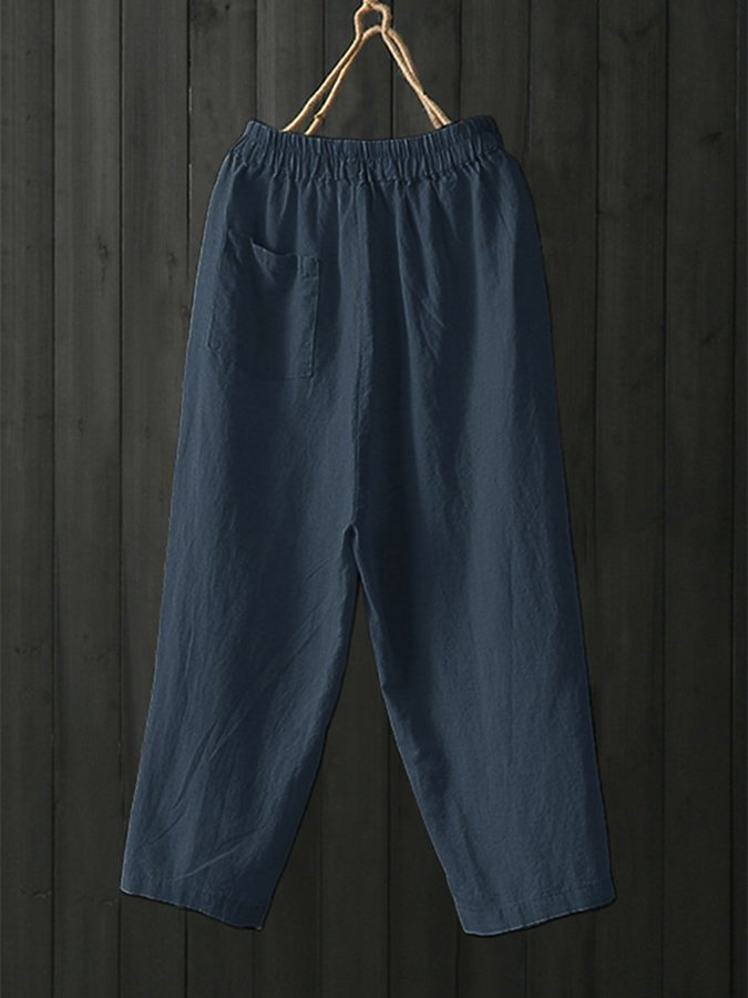 Shift Plain Linen Pants