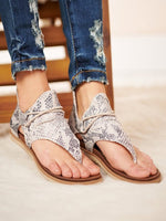Women Causal Zipper Summer Thong Sandals