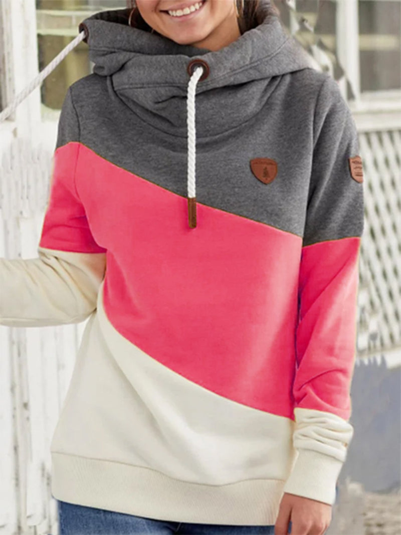 Contrast Stitching Casual Long-sleeved Sweater