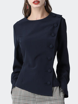 Asymmetric Elegant Work Shirts & Tops