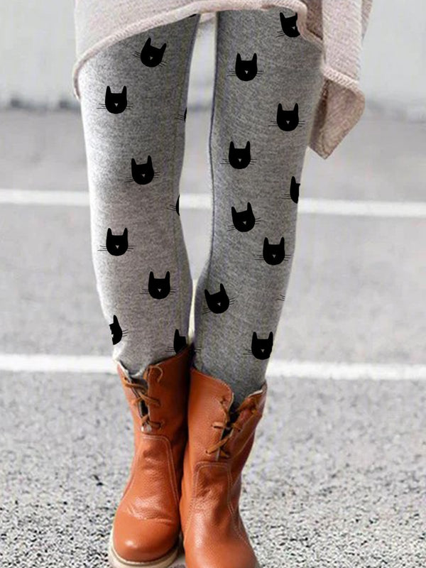 New Women Fashion Plus Size Vintage Sheath Printed Animal Pants