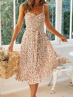 Swing Sleeveless Floral Bandeau Dresses