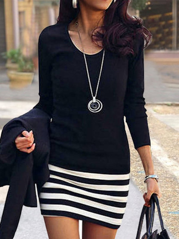 Long Sleeve Sheath Sexy Dress