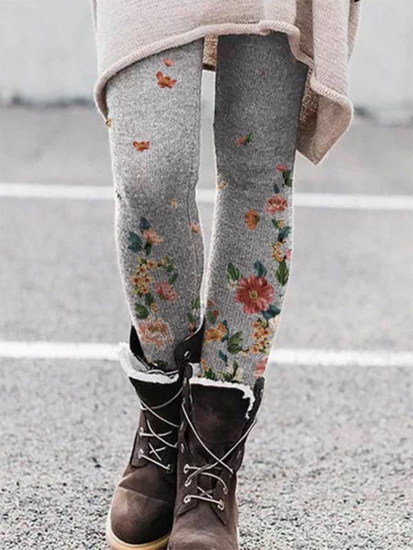 Plus size Floral Leggings Pants