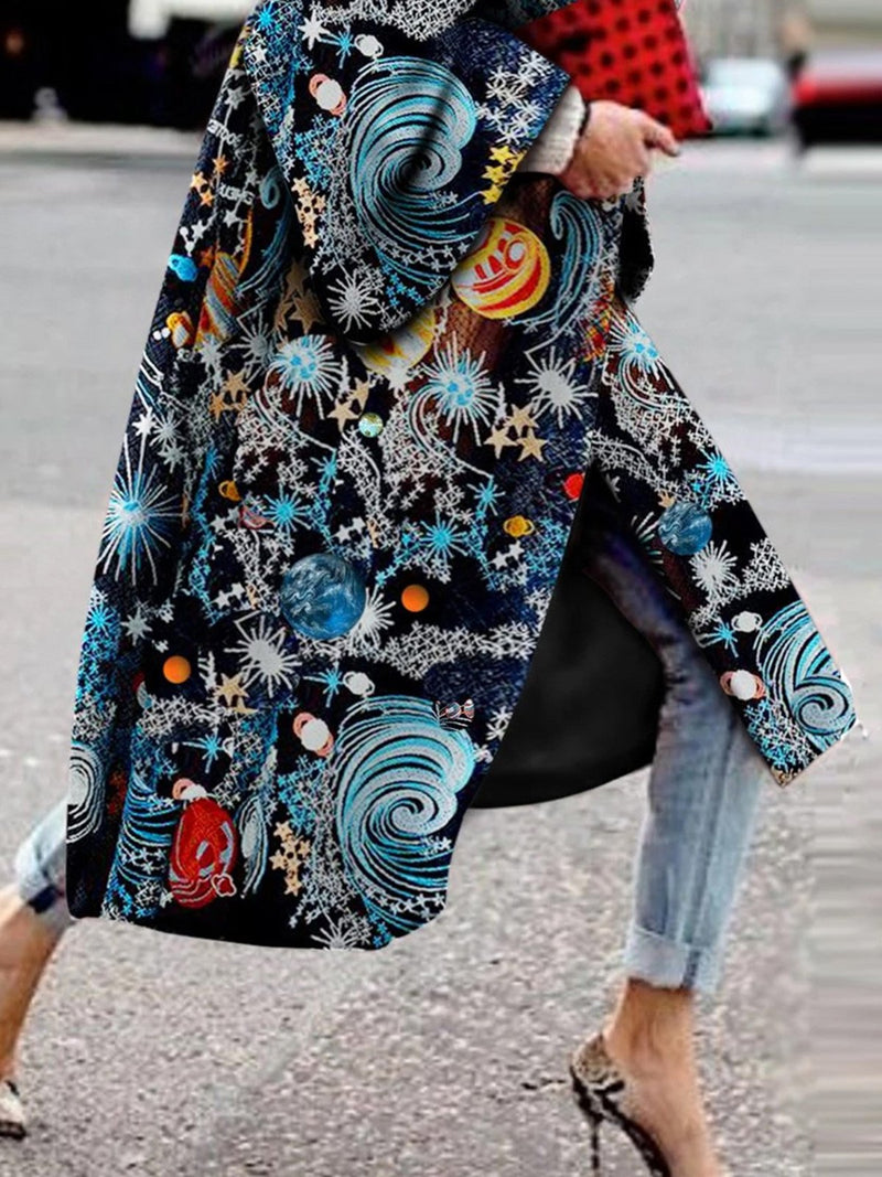 Abstract Vintage Printed Outerwear