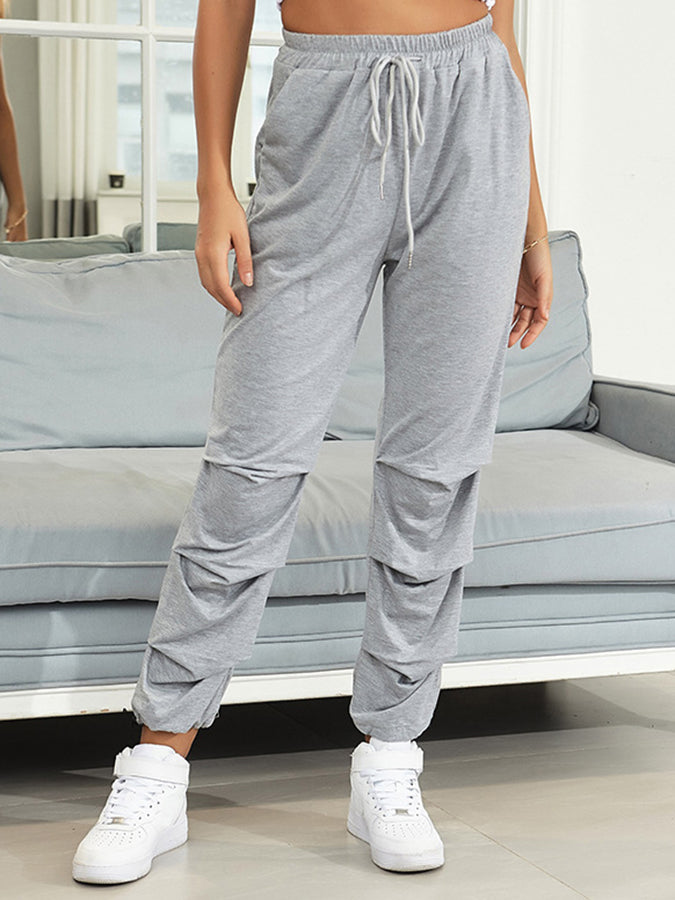 Light Gray Casual Solid Pants