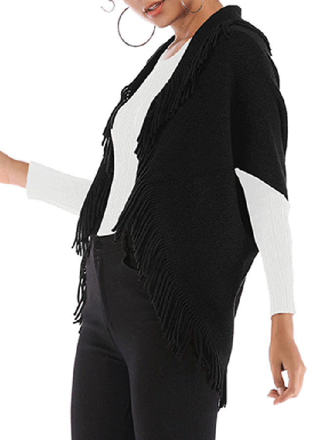 Knitted Solid Casual Cardigan