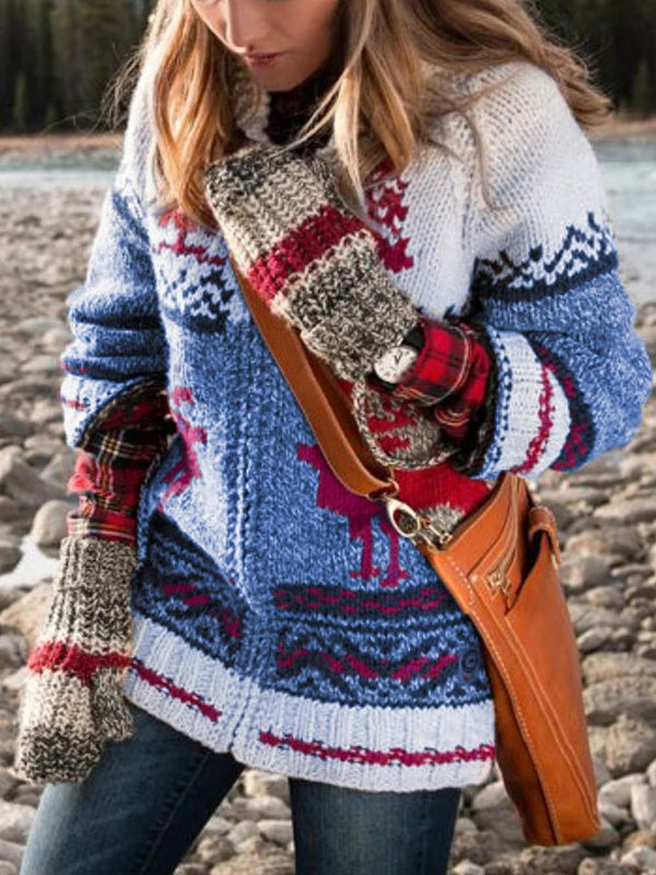 Shift Casual Tribal Woven Sweater