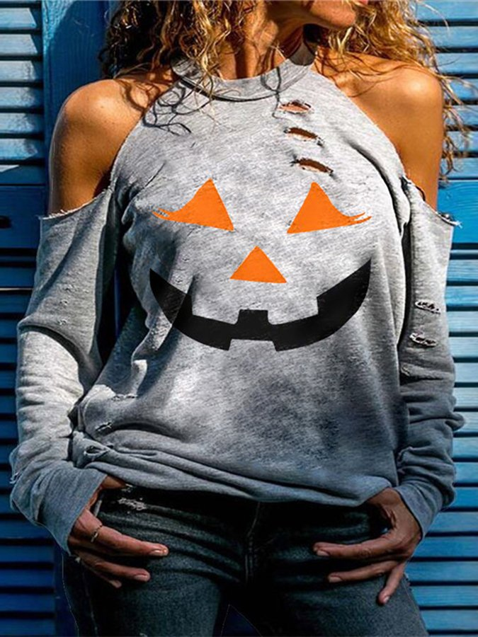 Halloween Graphic Statement Shirts & Tops