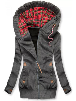 Women Hoodie Casual Pockets Jacket