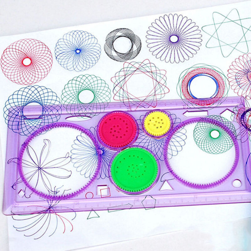 Drawing Art Drafting Stencil Spirograph Ruler