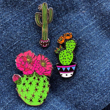Load image into Gallery viewer, Prickly Pear Cactus - Enamel Pin