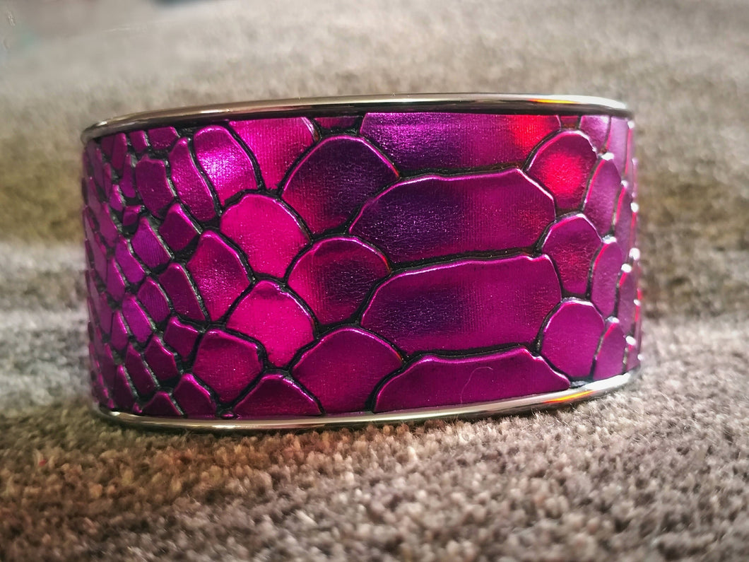 Electric Purple Snake Cuff